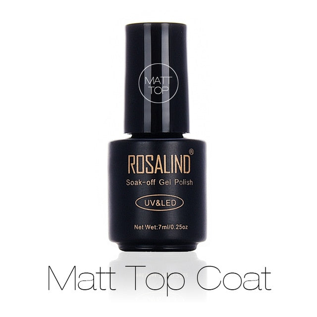ROSALIND Base Coat Top Coat Matt Top Gel Nail Polish Set For Manicure Gel Varnishes UV LED Nail Extension Design Primer Soak Off