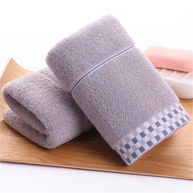 DelCaoFen Face Towel 100% Cotton Towel Terry Absorbent Washcloths Bath Towel Salon Home Use Hot Sale Custom Your Logo Towel