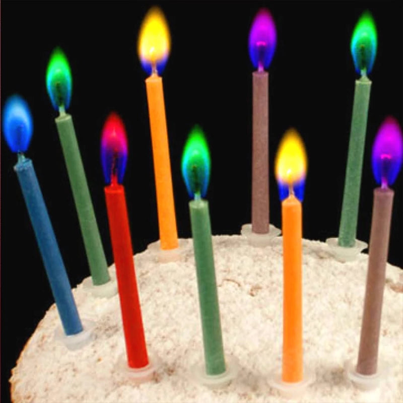 12pcs/Box Multi-colour Flame Candles