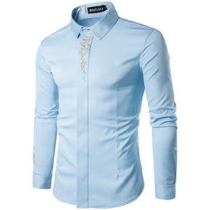 Men Casual Long Sleeved Shirts