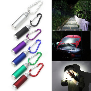 Mini Pocket LED Flashlights Portable Keychain Keyring Handy LED Light Camping Flashlight Torch Lamp Lights