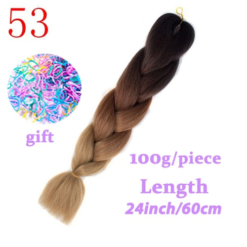 LISI HAIR long jumbo braids Ombre Synthetic fiber braiding Hair Russian women colourful hairstyles Crochet Hair Extensions