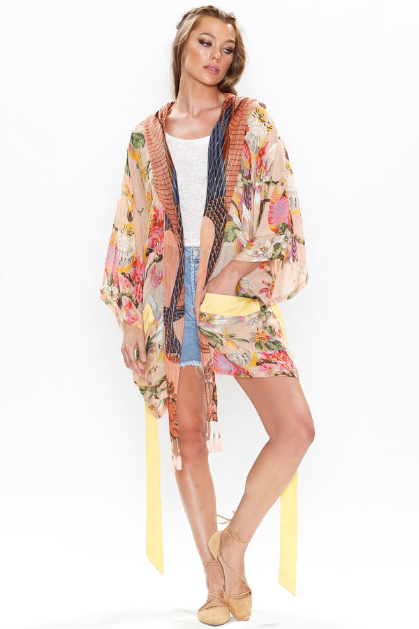 True to Yourself Kimono with Hoodie