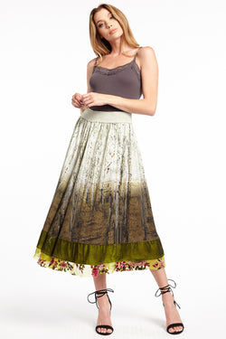 Washed Forest Skirt