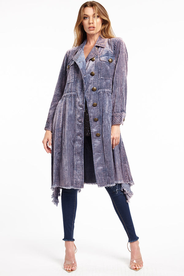 Leoni Corduroy Trench Coat
