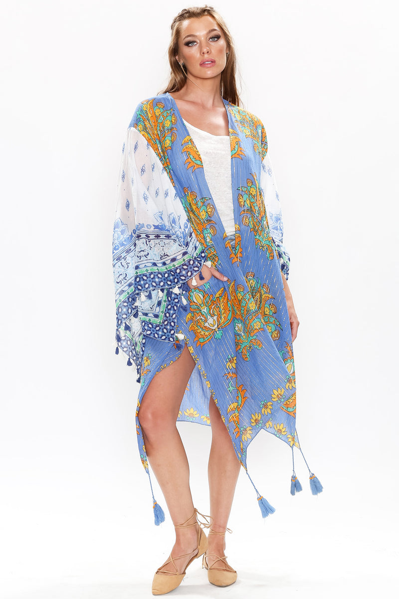 Phoebe Kimono with Front Hidden Pockets