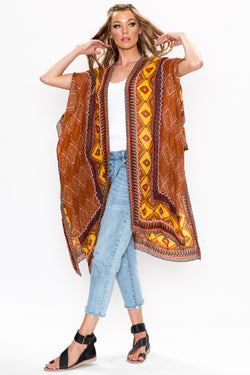 Safari Touch Hand Embroidered Kimono