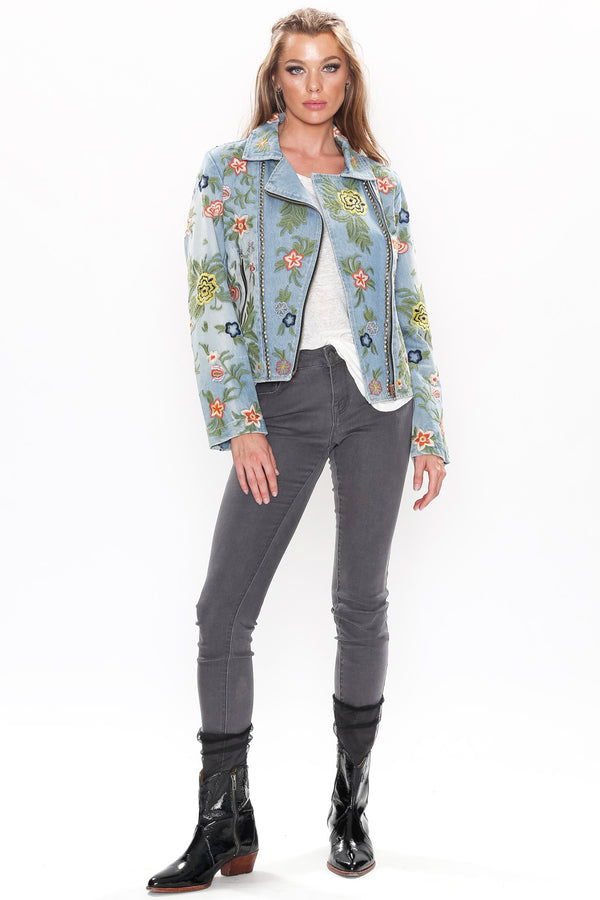 Lucinda Embroidered Denim Jacket