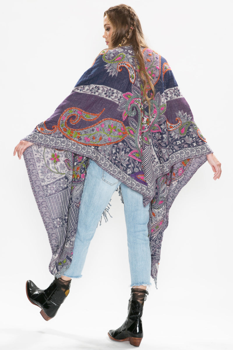 Crafty Hand Embroidered Poncho