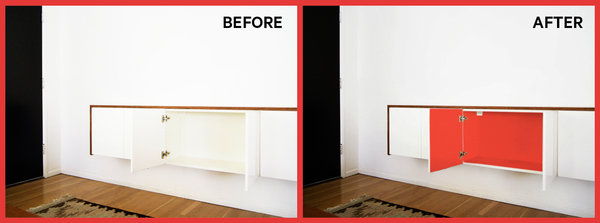 PANYL inside job before and after credenza
