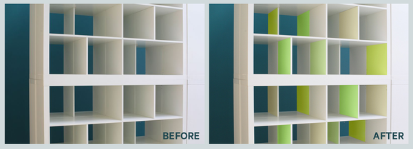 PANYL before and after inside job cubbies