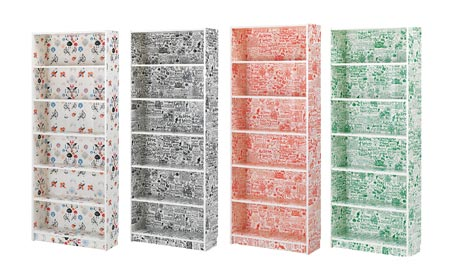 The curious case of billy bookcase panyl - Papel adhesivo para muebles ikea ...