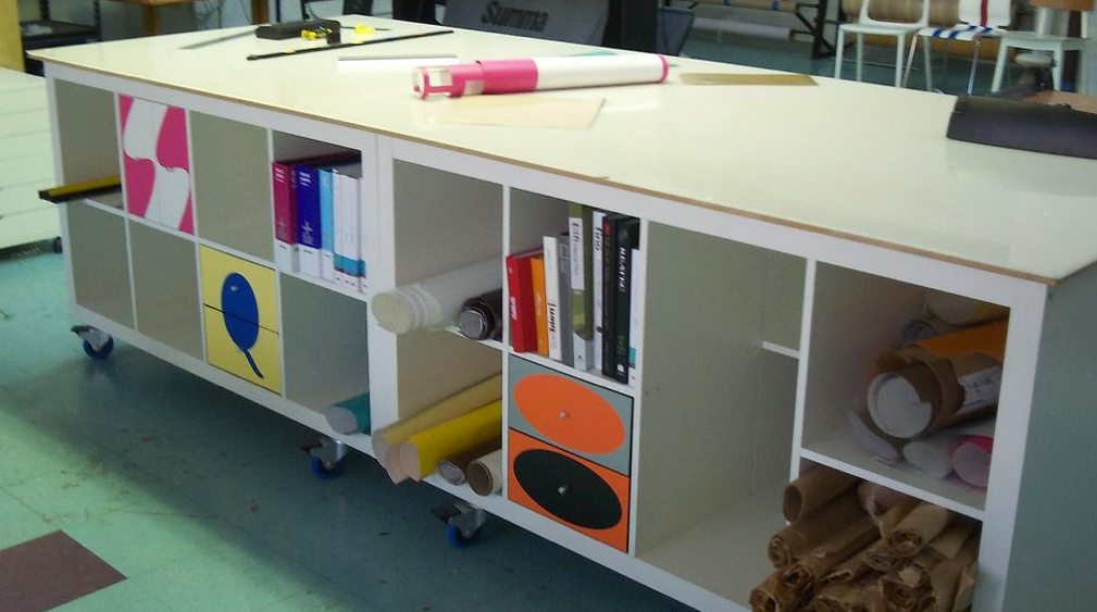 Our Giant, Moveable Worktable Hack Kinda Went Viral on ...