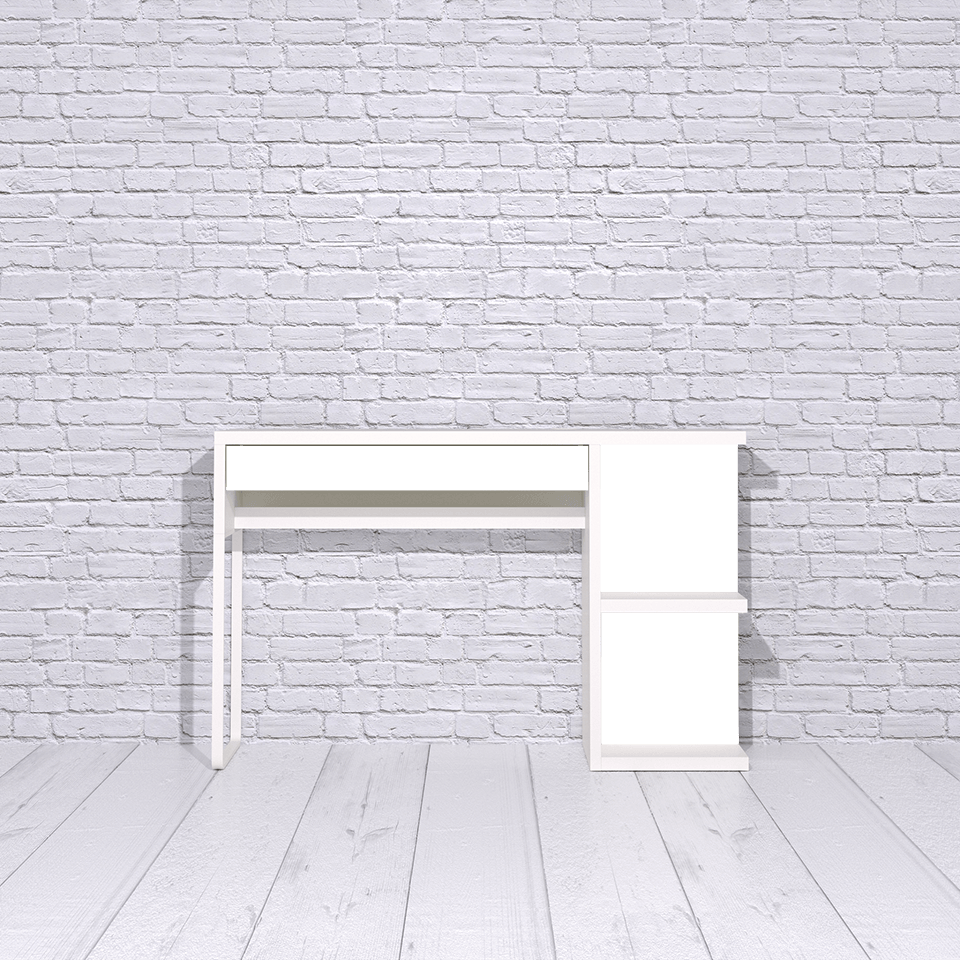 Micke desk with shelves