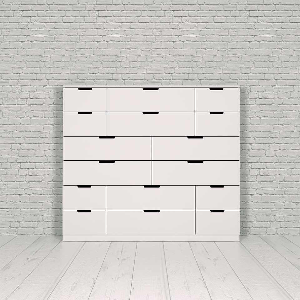 Nordli chest, 16-drawer