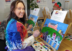 Heart for Art Fun social painting classes in Wellington