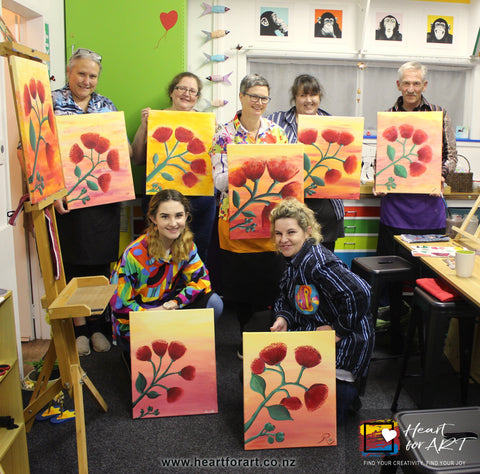Heart for Art Paint Party Fun