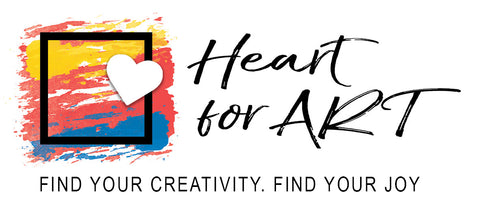 Heart for Art logo with painted picture on left