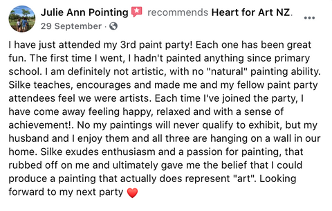 Heart for Art review from Julie