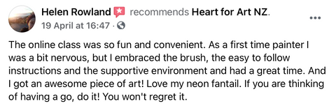 Heart for Art review from Helen