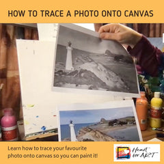 How to trace a photo onto canvas
