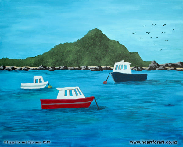 Come paint ISLAND BAY © Heart for Art NZ