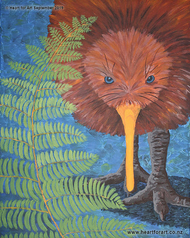Paint night ideas for beginners KIA KAHA KIWI © Heart for Art NZ
