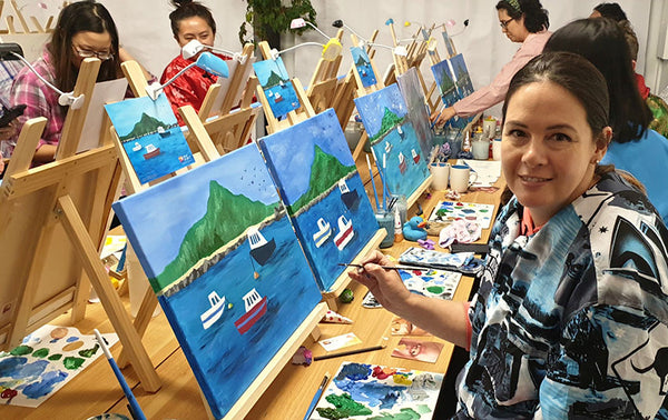 Social Painting classes at Heart for Art Wellington