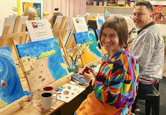 Art Therapy with Heart for Art because painting improves your wellbeing