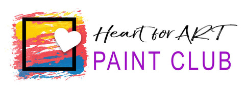 learn to paint with Heart for Art Paint Club