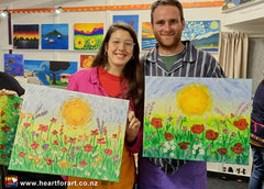 New painters with the Poppy Paintings