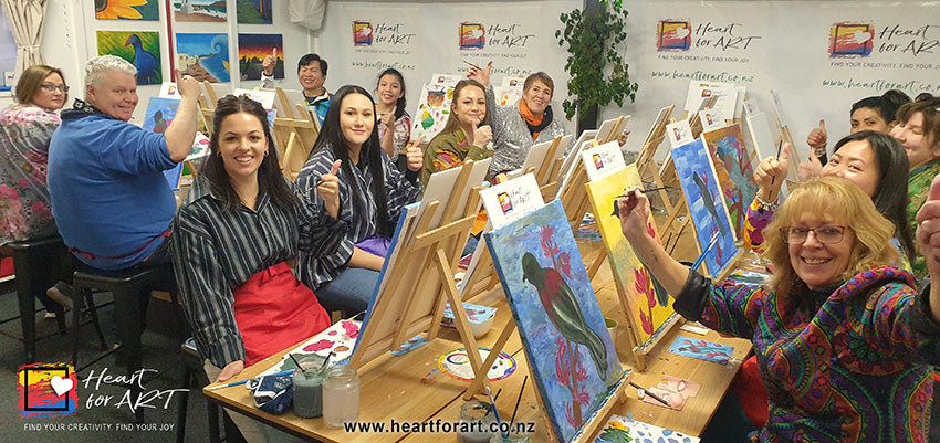 Enjoy a fun office Christmas Party with Heart for Art