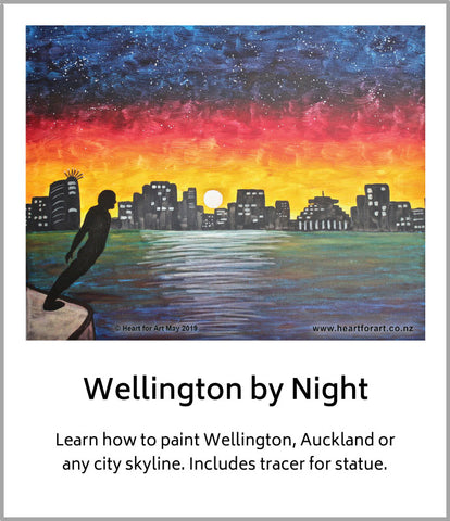 Wellington by Night painting