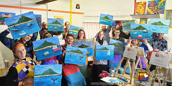 social painting fun group events and work functions