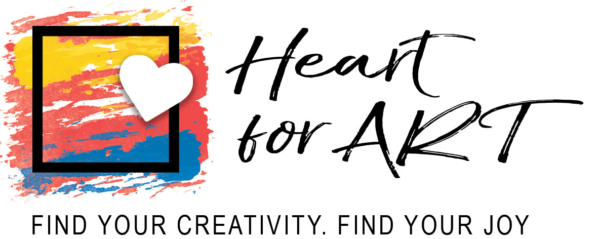 Heart for Art Fun paintings easy to follow art classes