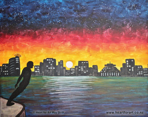 Come paint WELLINGTON BY NIGHT - Social painting at Heart for Art studio