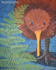 Paint your own Kiwi - Social painting class with Heart for Art