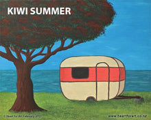 Load image into Gallery viewer, Paint your own Kiwi Summer with Heart for Art - Wellington painting classes