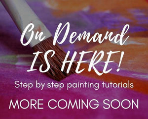 colourful painted background with paint brush and On Demand is here wording