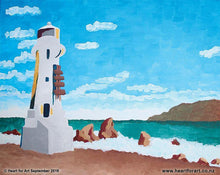 Load image into Gallery viewer, Paint your own Pencarrow Light House - Heart for Art social art class