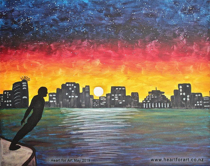 Paint your own WELLINGTON BY NIGHT with Heart for Art - Social painting fun