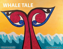 Load image into Gallery viewer, Paint your own Whale with Heart for Art - Wellington art classes