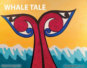 Paint your own Whale with Heart for Art - Wellington art classes
