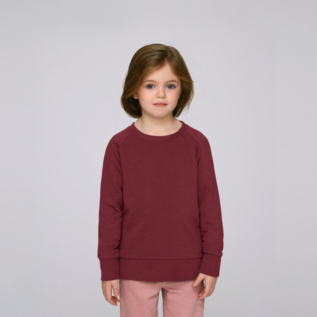 Kids Organic Sweatshirt Burgundy