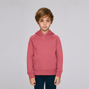 Kids Organic Hoodie Mid Heather Red