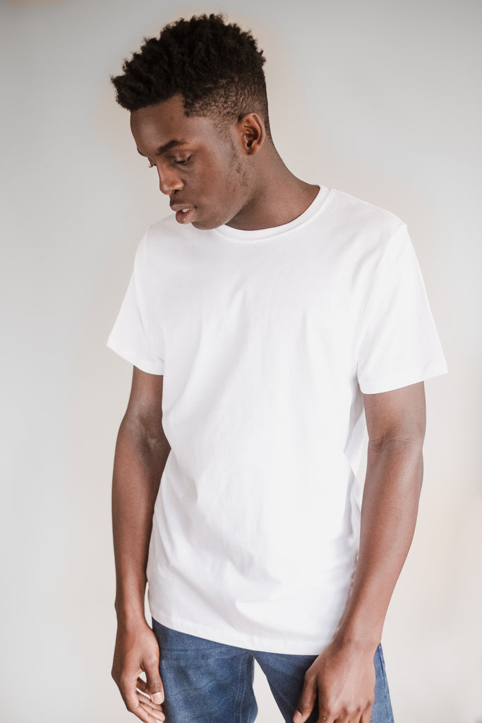 WHITE FAIRTRADE ORGANIC COTTON T-SHIRT