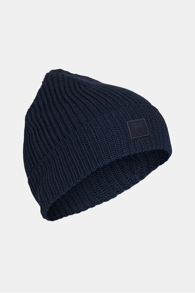 ORGANIC RIBBED BEANIE TOTAL ECLIPSE
