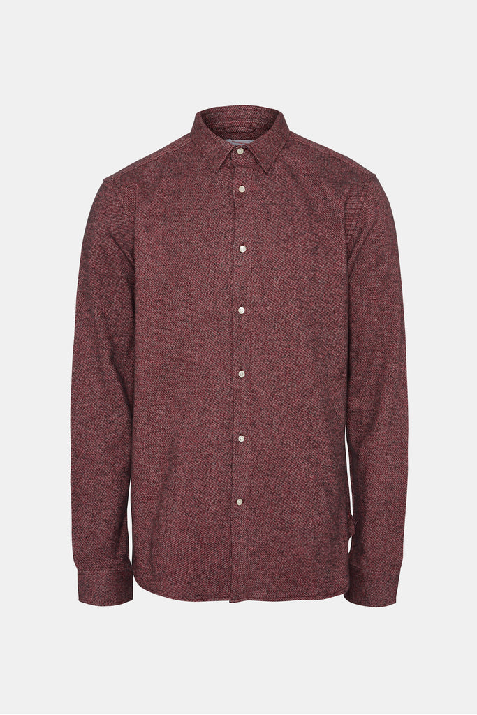 BRUSHED ORGANIC SHIRT MAROON
