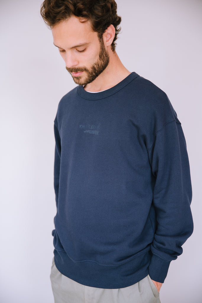 ORGANIC OVERSIZED SWEATSHIRT DEEP NAVY