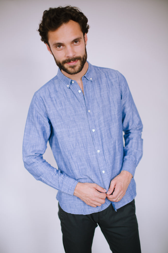 LARCH ORGANIC COTTON AND LINEN SHIRT